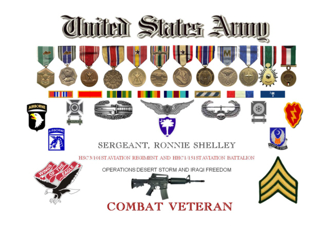 Army Shadow Box Display Presentation – Military Certificate Templates