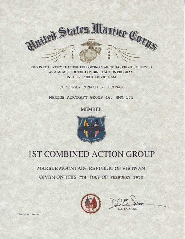 military certificates