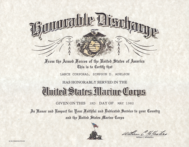 Usmc Honorable Discharge