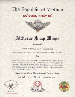 FOREIGN BADGES REPUBLIC OF VIETNAM JUMP WINGS