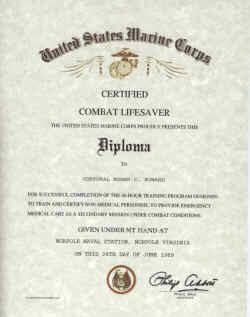 combat lifesaver certificate template