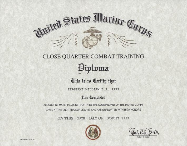 Close quarter combat training certificate yelopaper Images